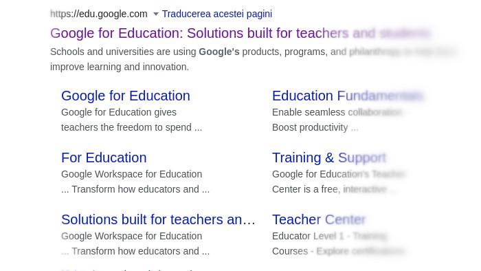 Linux Pentru Prieteni, 2021, Google pentru Educație, profesori și elevi